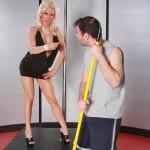 Sexy Blonde MILF Diamond Foxxx Seducing the Janitor 01
