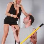 Sexy Blonde MILF Diamond Foxxx Seducing the Janitor 02