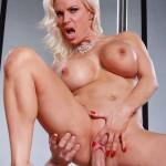 Sexy Blonde MILF Diamond Foxxx Seducing the Janitor 19