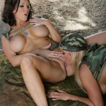 Abbey Brooks & Dylan Ryder are Two Horny Camouflaged Lesbians 27